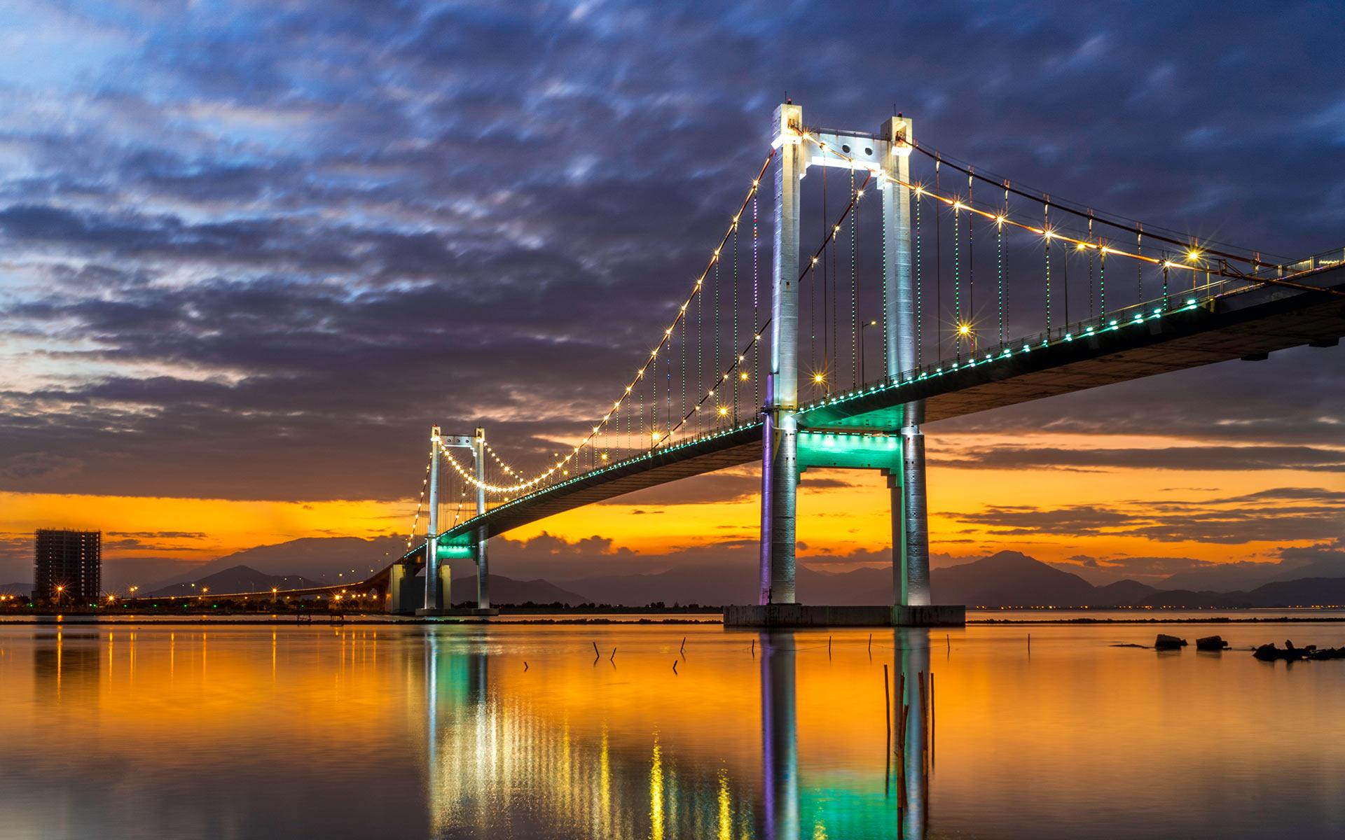 Thuan Phuoc Bridge in danang city