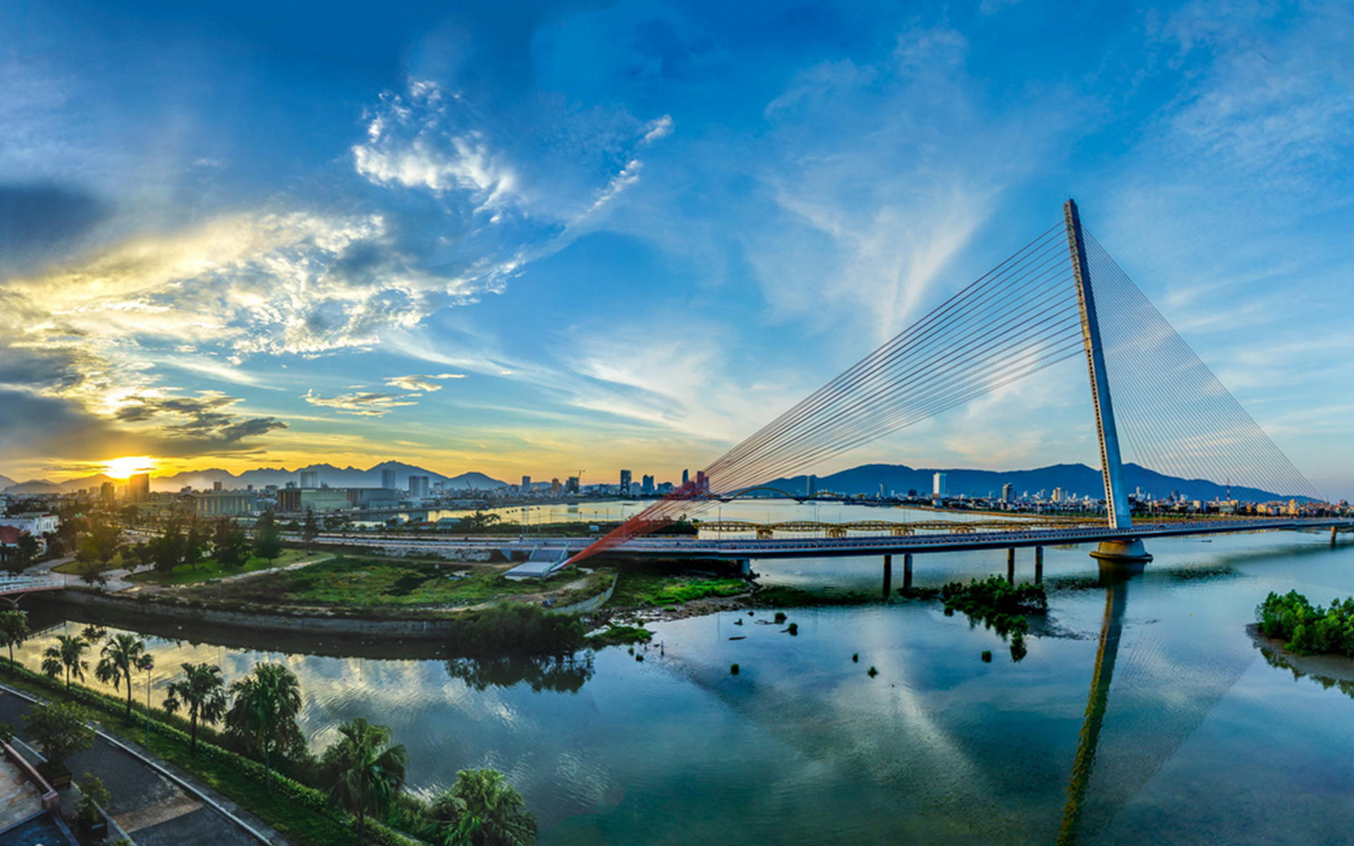 Tran Thi Ly Bridge in Danang City