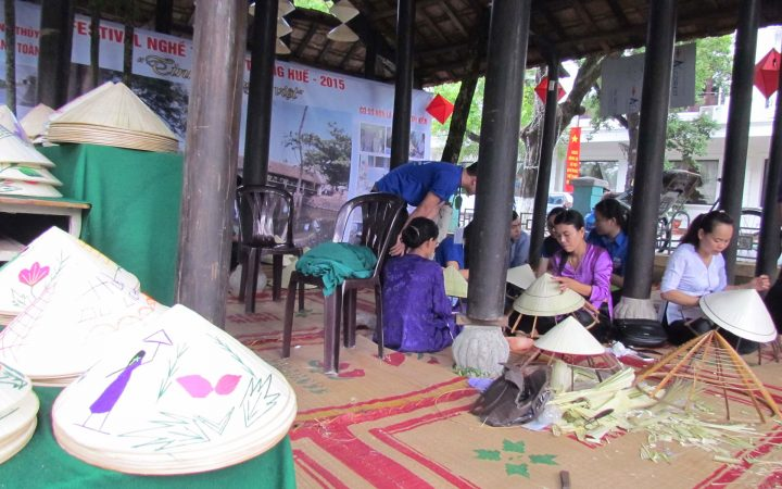 Conical hat making in Hue was founded and has developed for hundreds of years with a lot of famous villages.