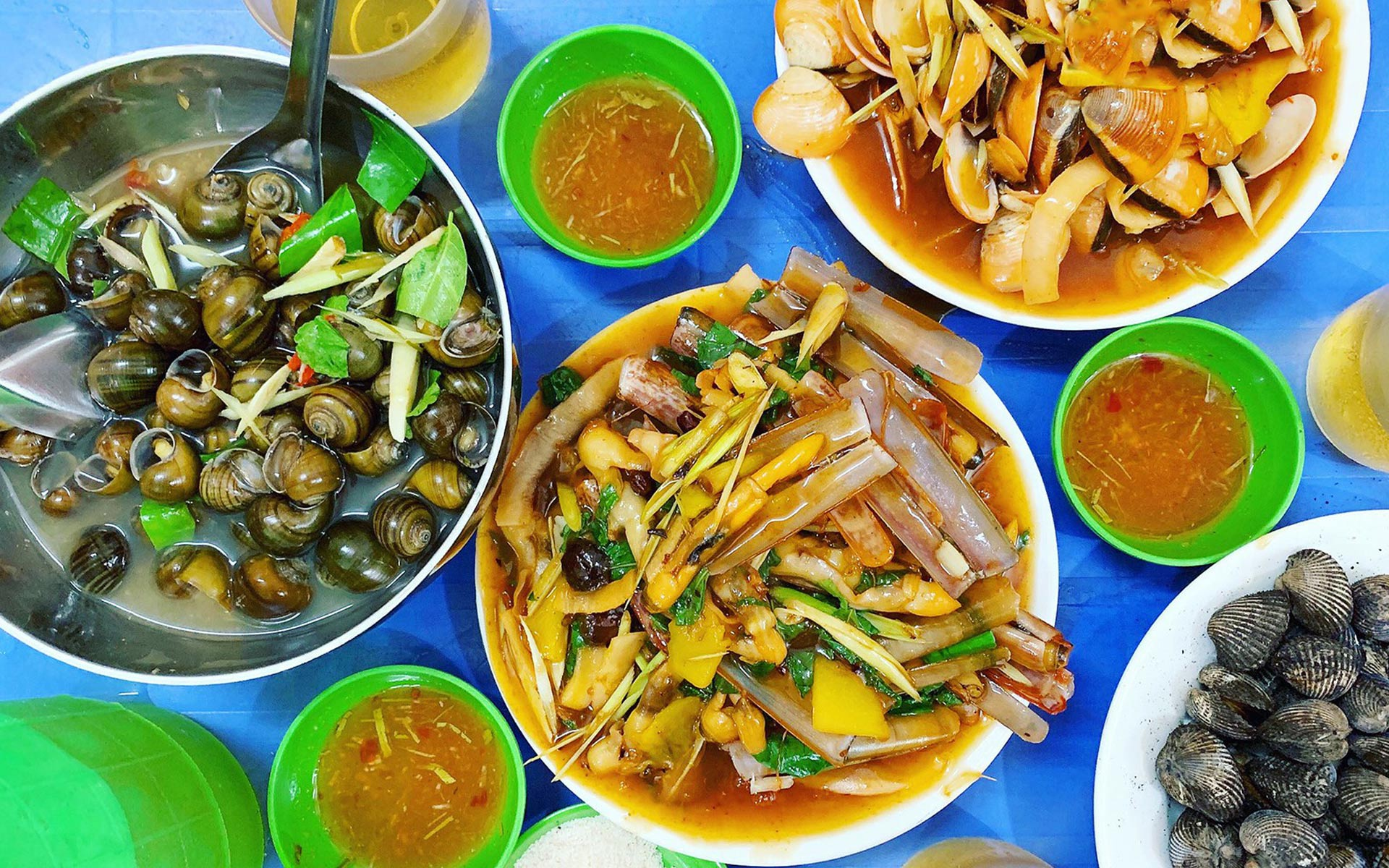 sea food in halong