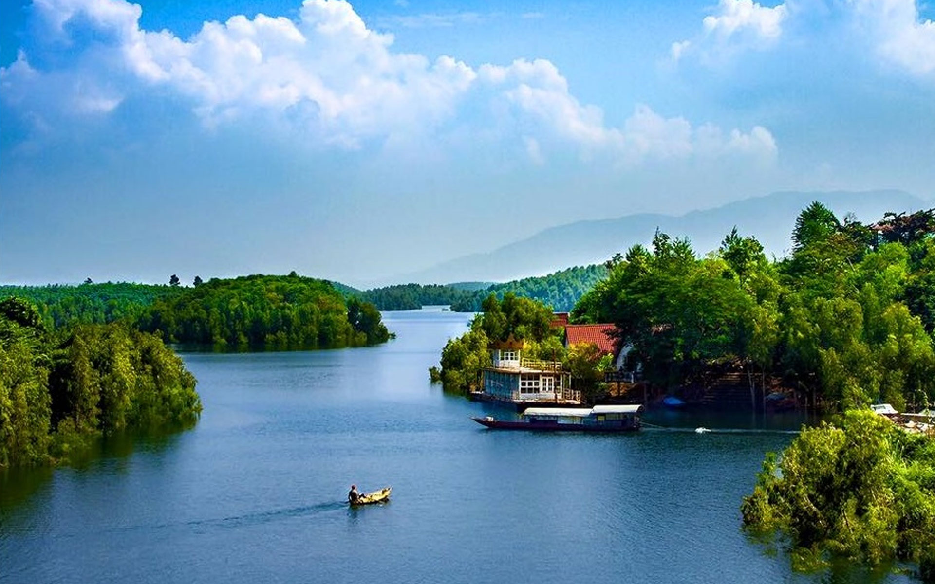 Thac Ba Lake is one of three largest man-made lakes in Vietnam.
