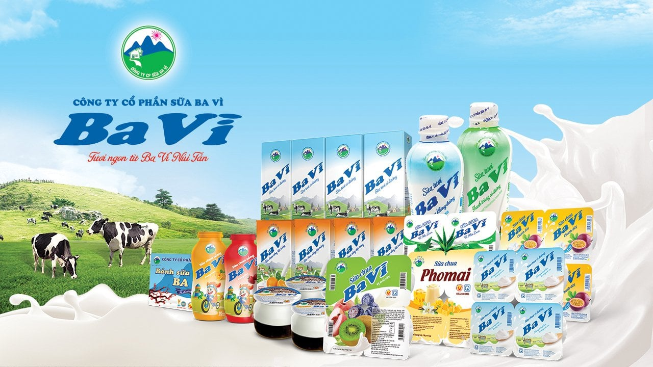 variety of milk products