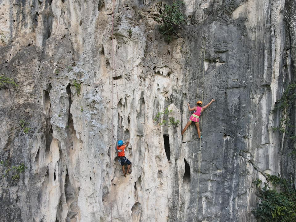 The first rock-climbing day in Thinh Yen, Lang Son