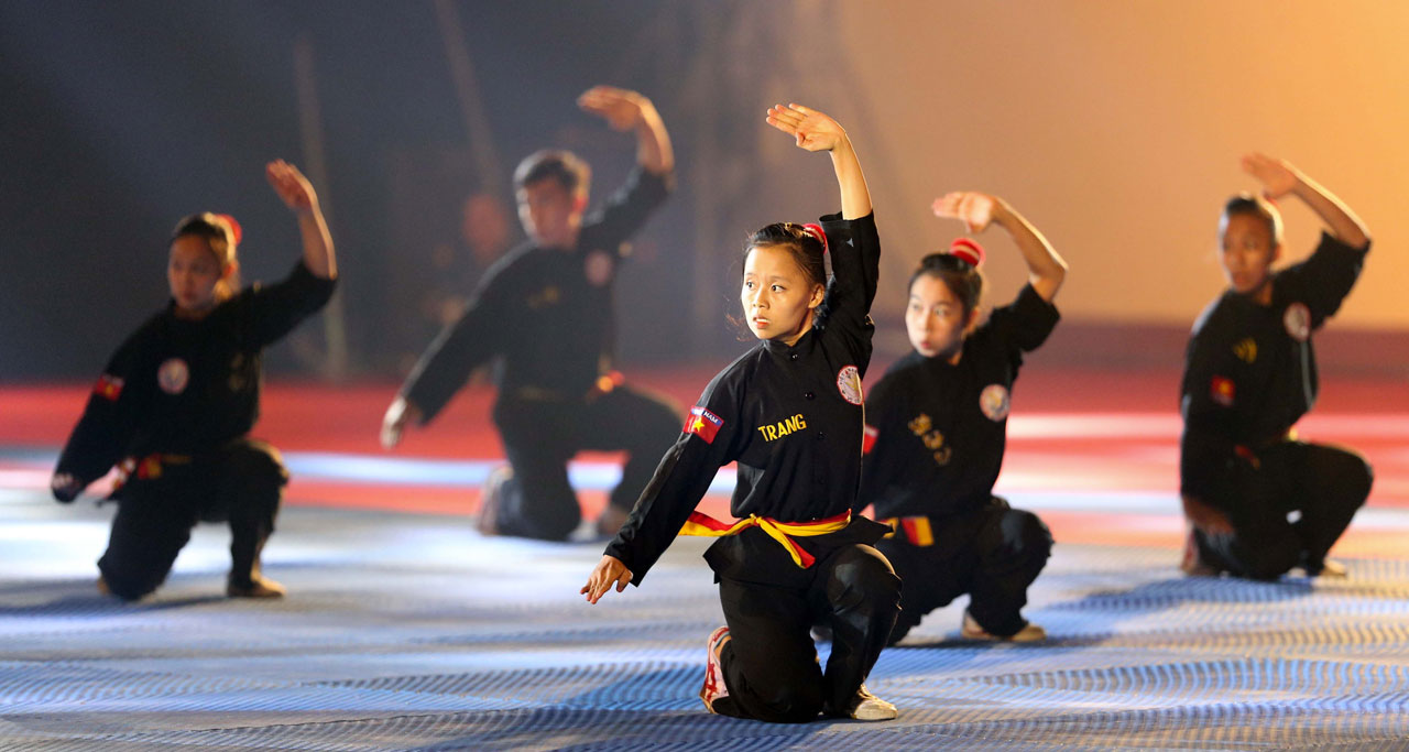 Strong moves and beautiful charisma of traditional martial arts