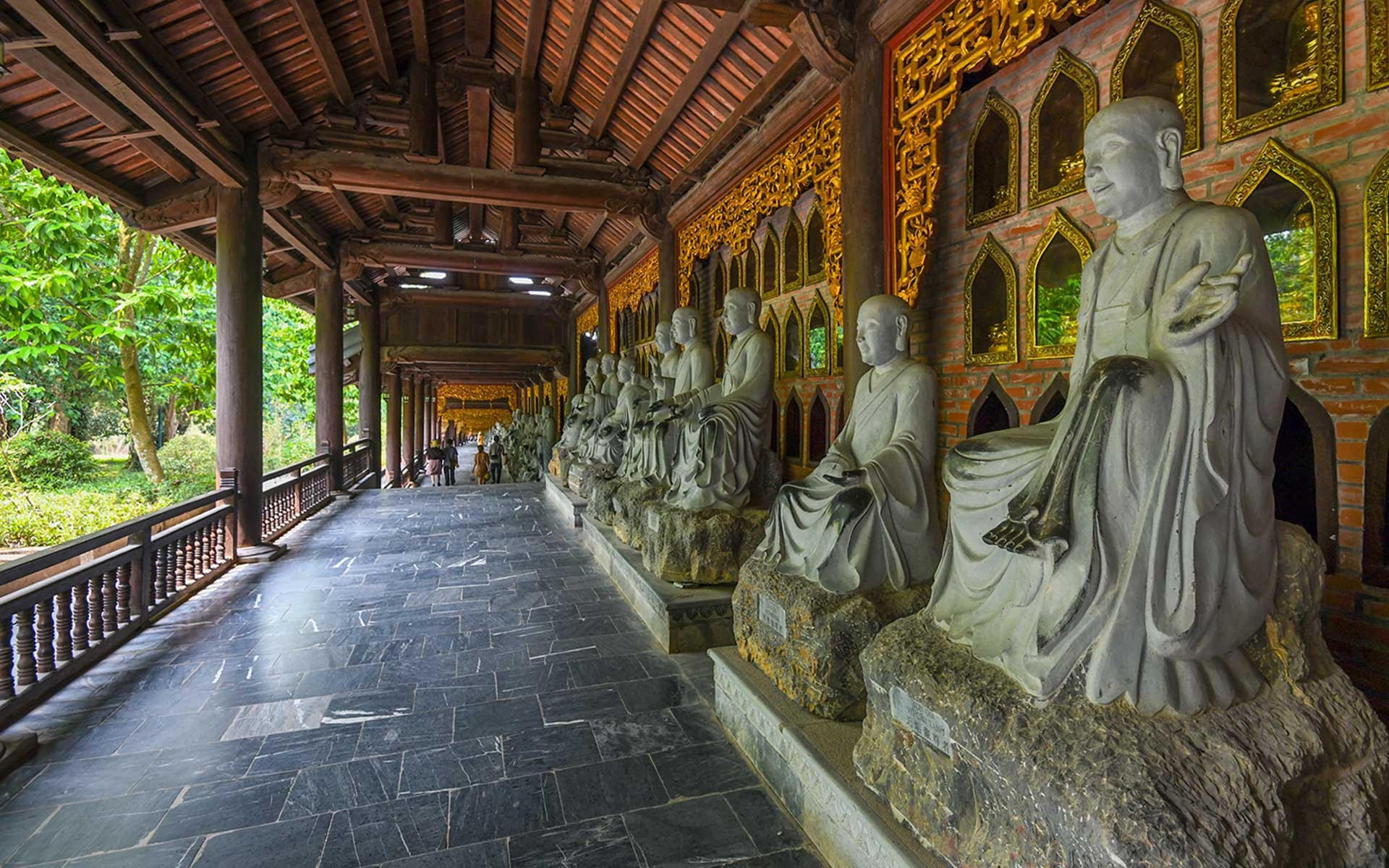 Corridor with Arhat Statues
