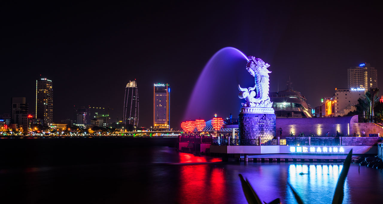 Carp-Dragon Statue - a symbol of Danang City