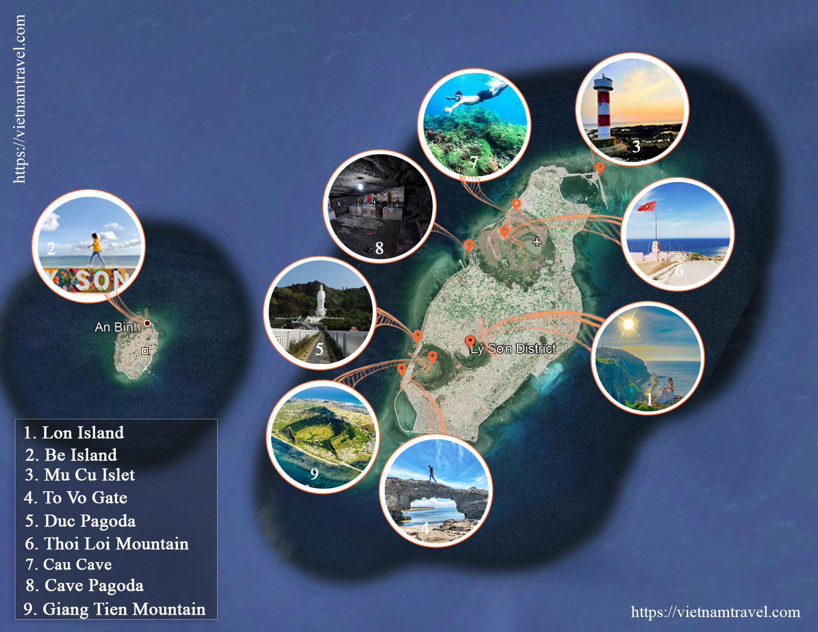 Ly Son Island Map: 9 must-see destinations in Ly Son, Quang Ngai