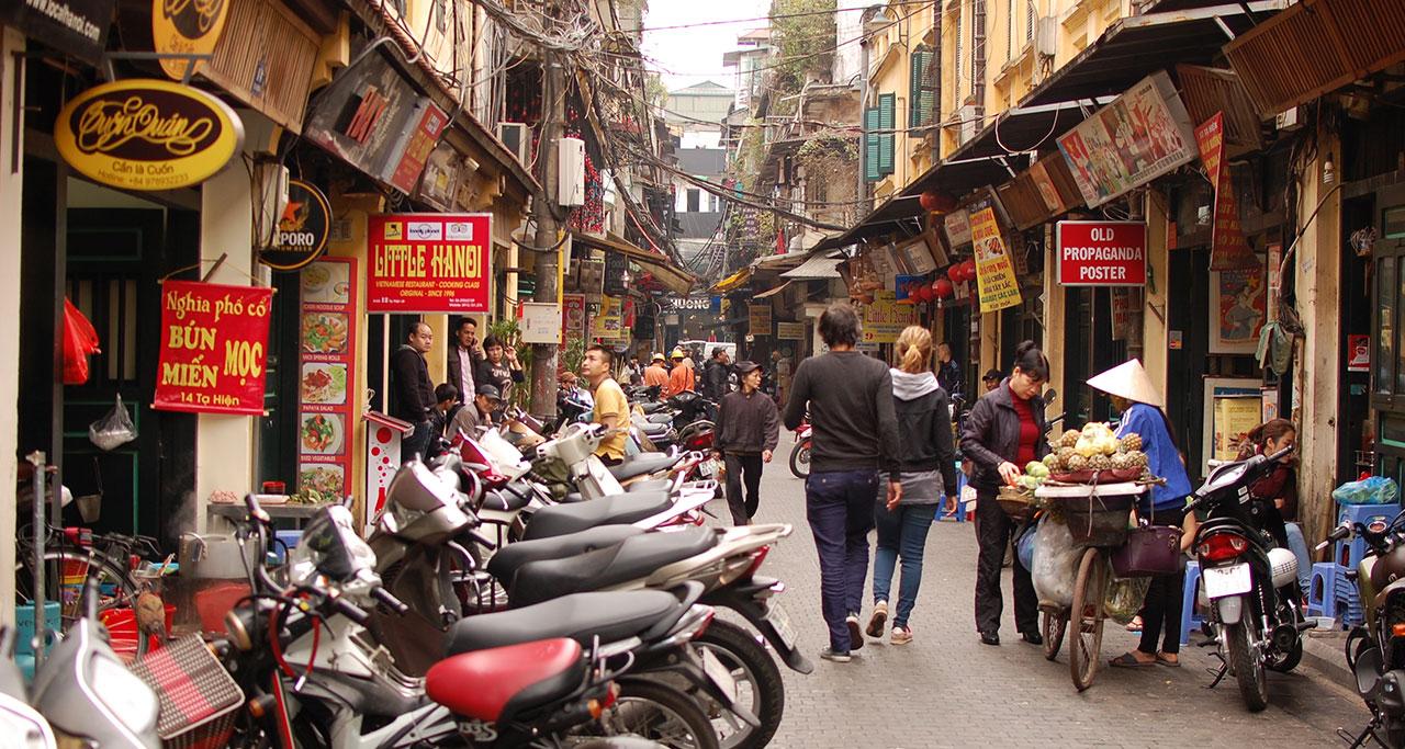 hanoi-old-quarter-on-Hanoi-Street-Food-Tour