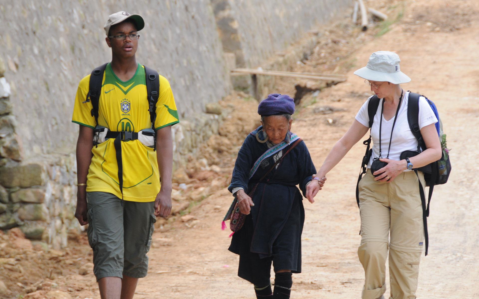 backpack for trekking in sapa