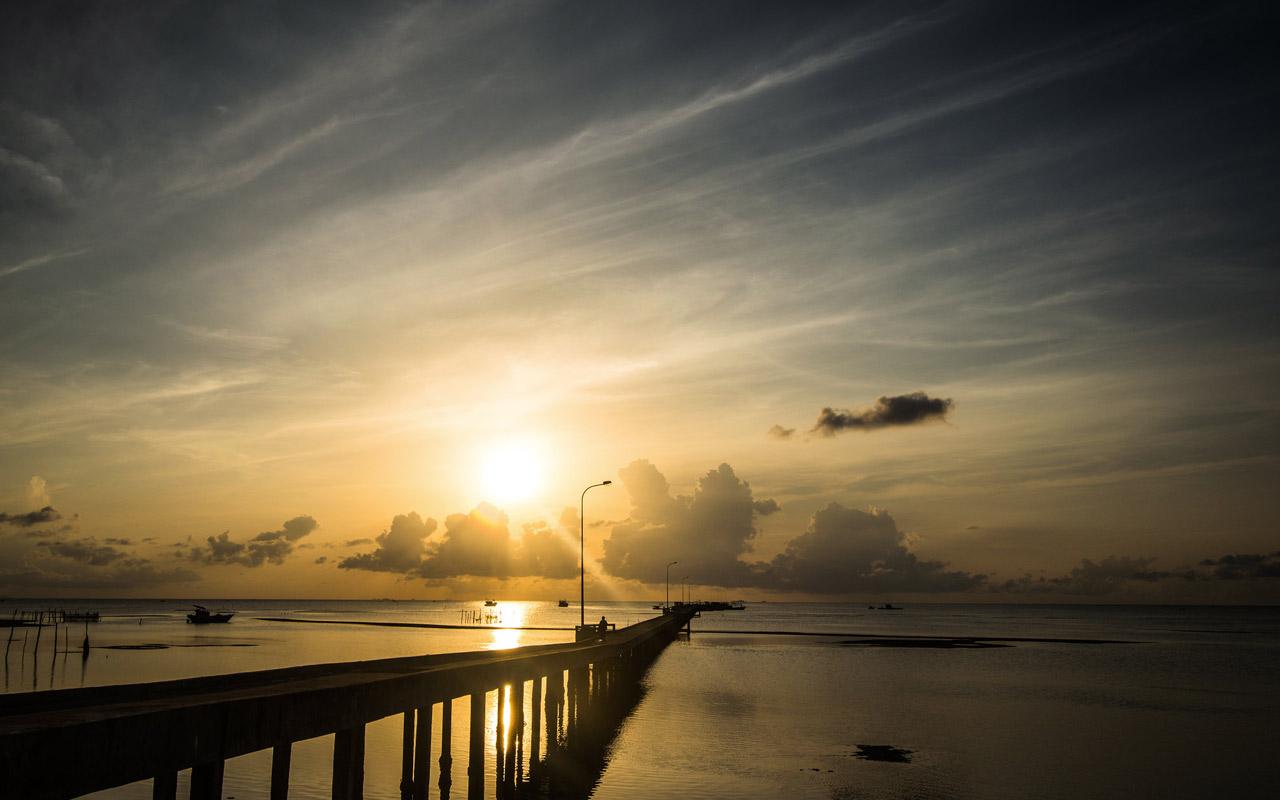 Sunrise at Ham Ninh fishing village