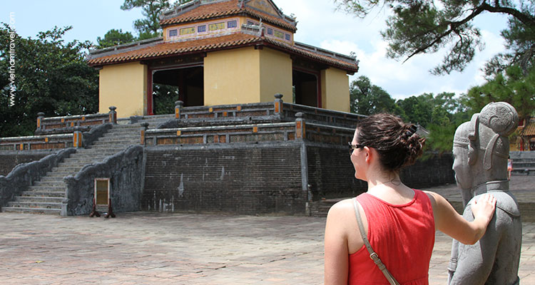 visitor in Hue